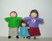 Dollhouse Family, Bendy Doll, Mom Dad Toddler Baby, Boy & Girl, Pocket Dolls, Children