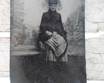 Tintype Photo, Victorian, Tin Photograph, 1800s, Edwardian, Fashion, Photography, Bustle, Victorian Fashion, Civil War