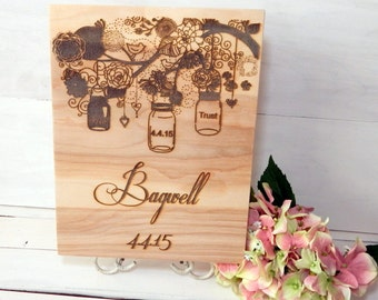 Personalized Wedding Sign, Wedding Decoration Sign, Personalized Home Decor Sign, Housewarming Gift, Wedding Gift, Reception Decor