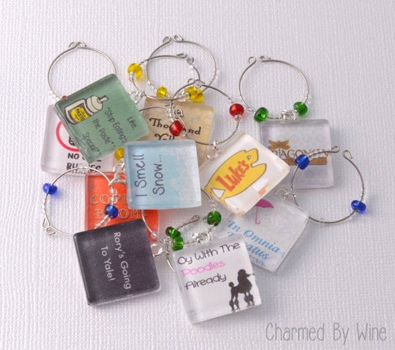Gilmore Girls Wine Charms | Gilmore Girls Gift Guide