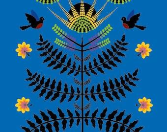 Winter Mahonia - Illustration print