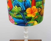 For Damien: LARGE Standing Lamp Tropical Lamp Shade