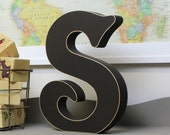 Free Standing Wooden Alphabet Letters - Victorian Font - Choose Any Letter