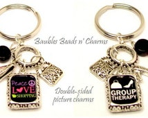Love to Shop Quote Keyring, Shopping Quote Key Ring, Shopping Diva Keychain, Love to Shop Key Chain,