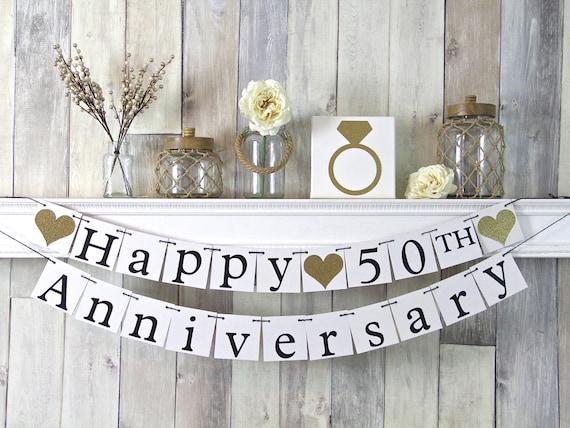50th Wedding Anniversary Gift Ideas Gold: 50th Anniversary Banner Happy Anniversary Banner Anniversary