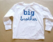 Big Brother Long Sleeve Shirt with bright blue lettering in two fonts