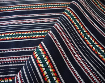 Peruvian Fabric, Andean Fabric, Woven, Inca Stripes Blue Black, 2 Yards