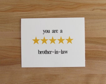 Birthday Cards Brother In Law ~ Brother in law nerd etsy