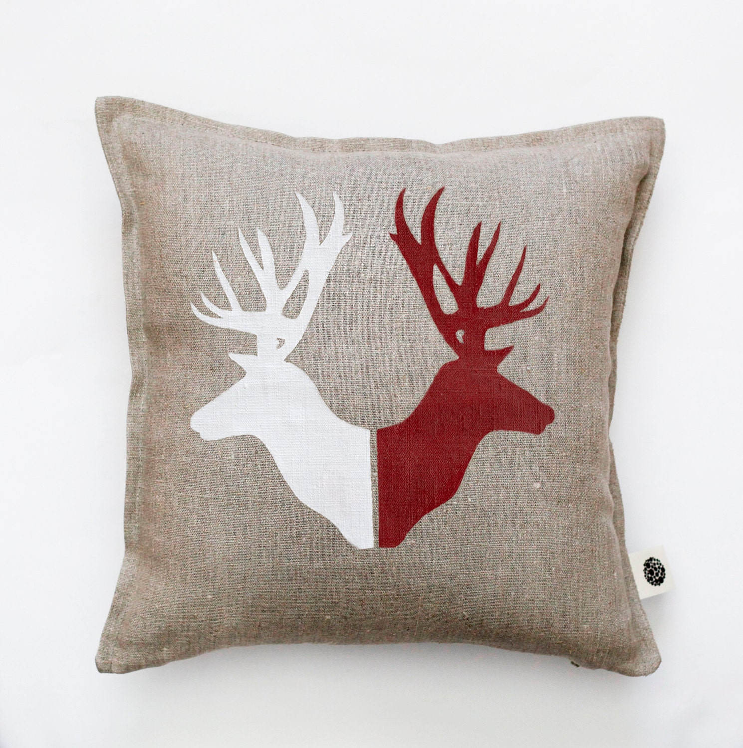 Throw Pillows Deer : Deer heads throw pillow for rustic bed for camping pillows
