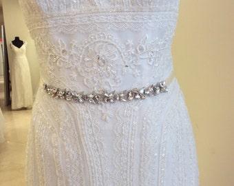 Jeweled BRIDAL RHINESTONE SASH, jeweled sash, jeweled belt ,rhinestone belt ,Bridal Crystal belt, Crystal sash, wedding rhinestone belt