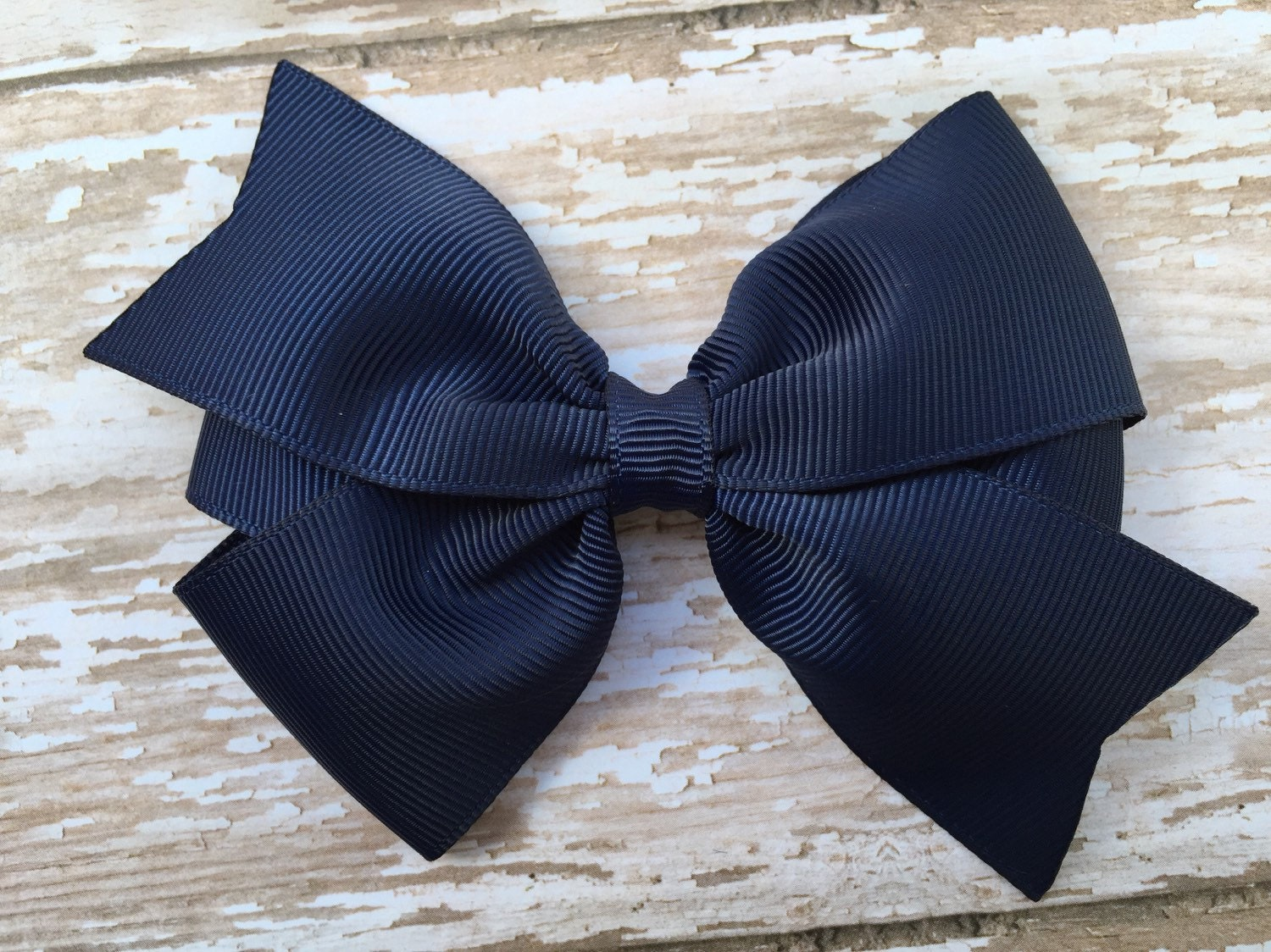 4 Inch Navy Blue Hair Bow Navy Blue Bow 4 By Browneyedbowtique
