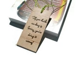 Maple Bookmark - Upcycled Wood Bookmark - Hardwood Bookmark Burnt with Reading Quote- Ready To Ship