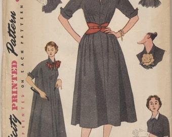 Vintage 1952 Simplicity Pattern 4007 Ladies Dress Size 14 Bust 32