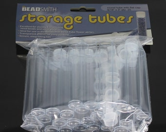 "Clear Storage Tubes 3"" for  Seed Beads (25 Tubes) - BeadSmith"