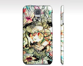 Samsung Galaxy s5 phone case - watercolor art phone case - cell phone case - floral phone case - Samsung case - pink phone case