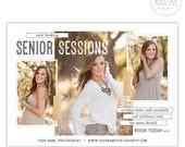 Senior Marketing Template, Senior Marketing Board, Senior Photography Marketing Templates for Photoshop  | POSH - AD170