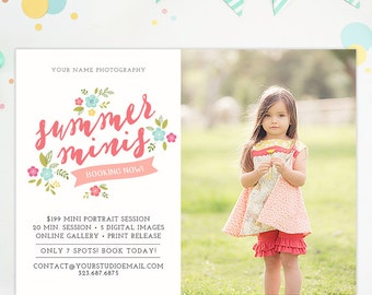 Summer Mini Session Template, Summer Mini Session Marketing Board, Photography Marketing Templates, Photography Templates Advertising AD183