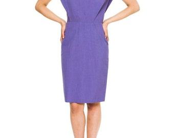 1980s Vintage Pierre Cardin Structured Linen Dress  Size: S/M
