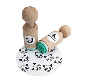 Panda Mini Stamp with mint rubber
