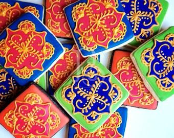 Mehndi Henna Inspired Cookies