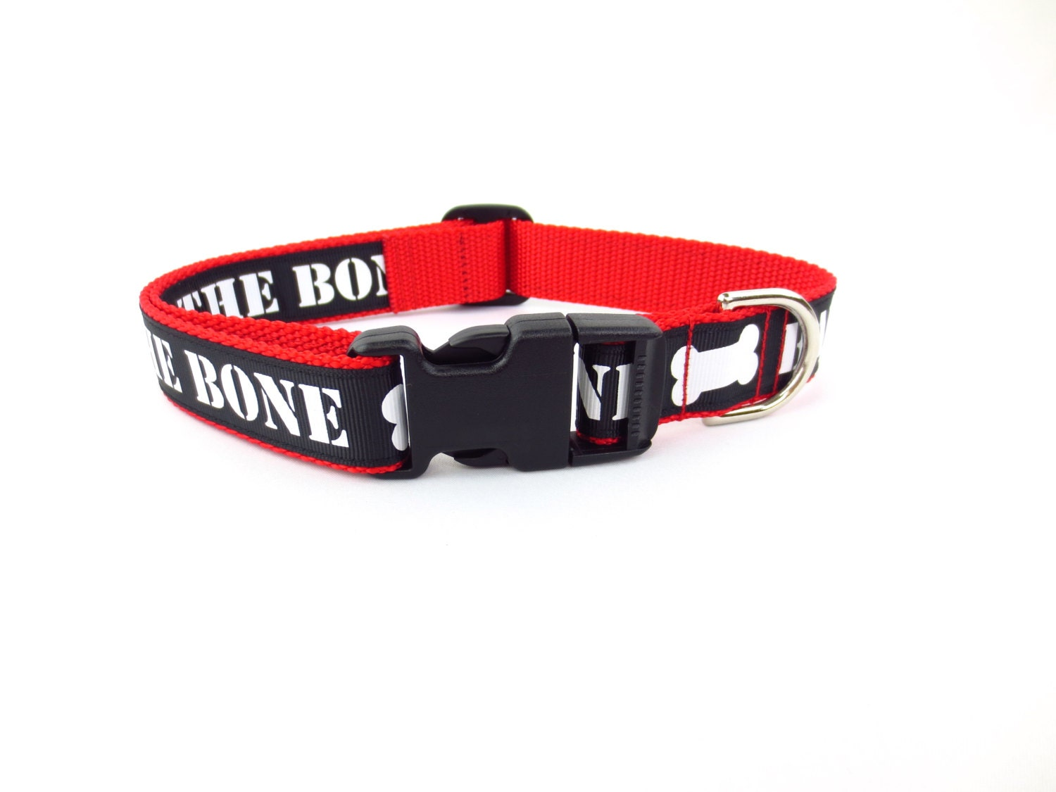 Bad To The Bone Dog Collar Large