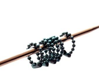 Small Light Blue Ball Chain Stitch Markers