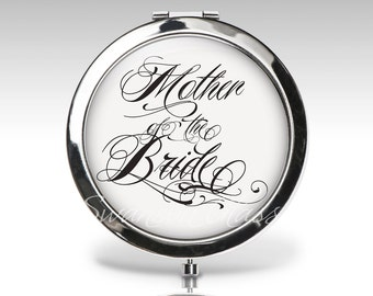 Mother of the Bride, Wedding Gift, Compact Mirror, Bridal Party Gift, Personalized Custom Gift, Bride Compact Mirror, Mother Gift C36