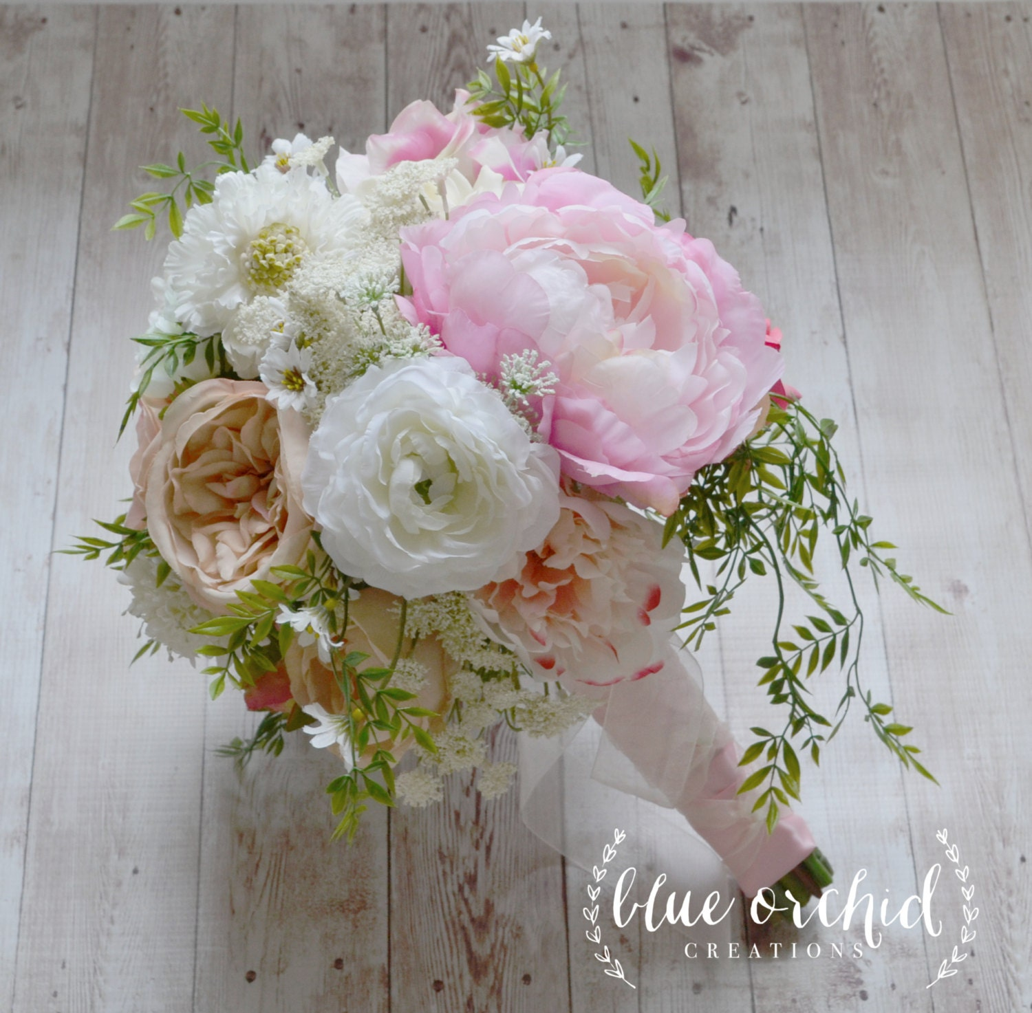 Country bouquet shabby chic bouquet wedding bouquet peony for Bouquet chic