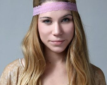 Lace headband. Handcrafted in USA with American materials. Many colors. Rare lace.