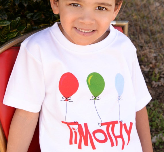 SHORT SLEEVE Personalized Name Birthday Balloon Party T Shirt Girls Boys Tee Baby Onesie High Quality Shirt Tshirts