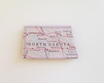 S A L E North Dakota magnet - state magnet - puzzle piece