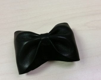 Leather Bow Cuff Bracelet 3 Available Colors