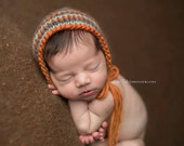 Newborn Chunky Tri-Color Wool Classic Knit Bonnet
