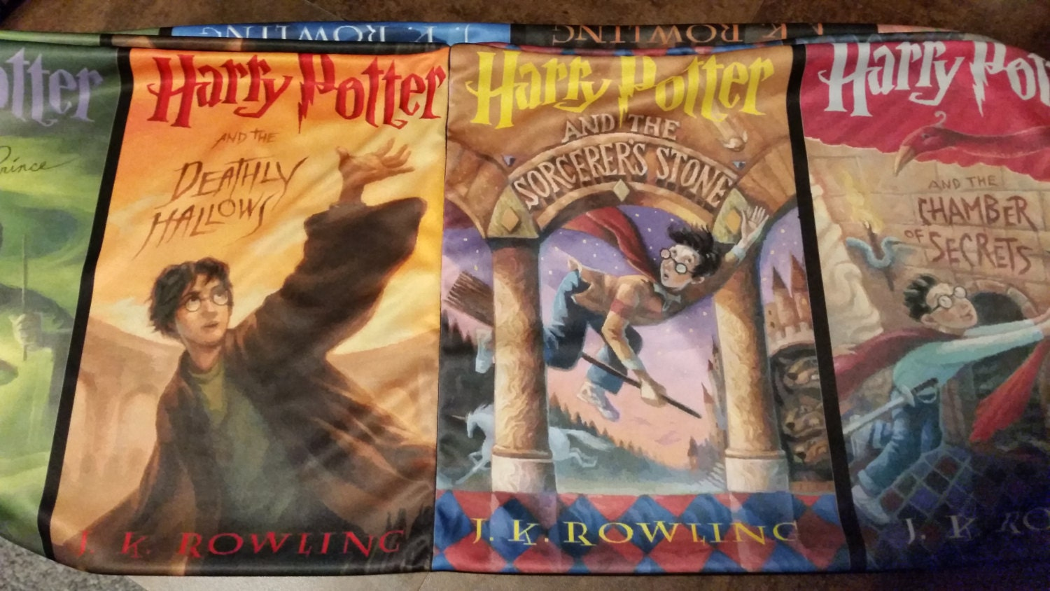 Harry Potter Book Cover Fabric ~ Harry potter book covers infinity scarf custom hand crafted