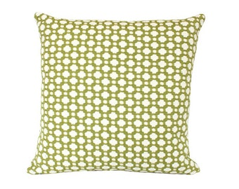 Designer Chartreuse Woven Betwixt Schumacher Pillow Cover