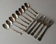 silver cake forks