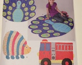 Simplicity 1442 Sewing Pattern Rag Quilts Peacock Hedgehog Fire Truck New and Uncut Pattern