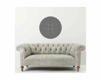 Hermann Grid illusion vinyl wall decal removable wall decor - Optical Illusion geometric art (ID: 151008)
