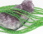 Lot of 5 strands 3x2mm Grass Green AB Chinese Glass Rondelle Loose Spacer Beads 100 beads/strand (BH5136)