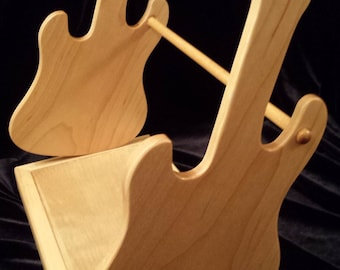 CD DVD Games  Holder, Organizer - Maple Guitar Design