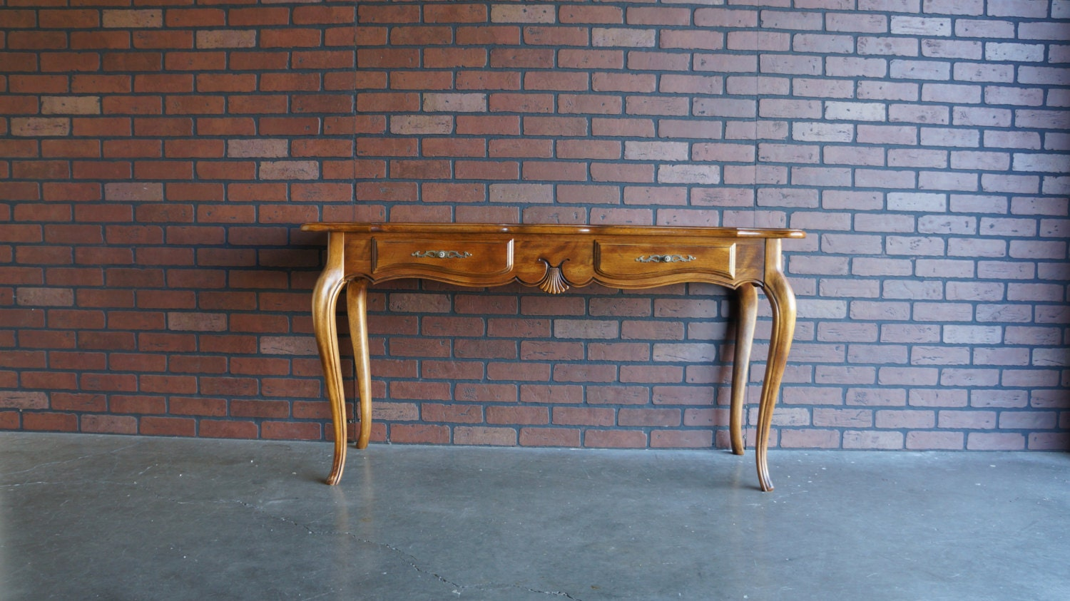 Foyer Table Ethan Allen : Ethan allen country french sofa table console entry