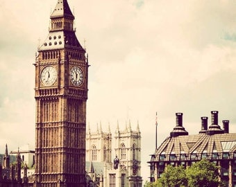 London photograph, fine art photography, travel print, England photo, vintage, Big Ben - Classic London