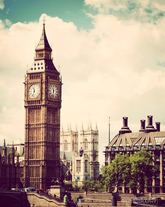 London photograph, fine art photography, travel print, England photo, vintage, Big Ben - Classic London
