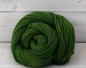 Custom Order for Bethany - Zeta - Hand Dyed Polwarth Wool and Silk DK Sport Yarn - Colorway: Moss