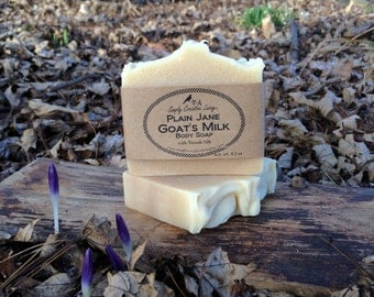 Creamy Unscented Silk Goat's Milk Soap with Tussah Silk