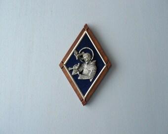 Vintage religious frame. Francis of Assisi frame. Saint Francis icon.