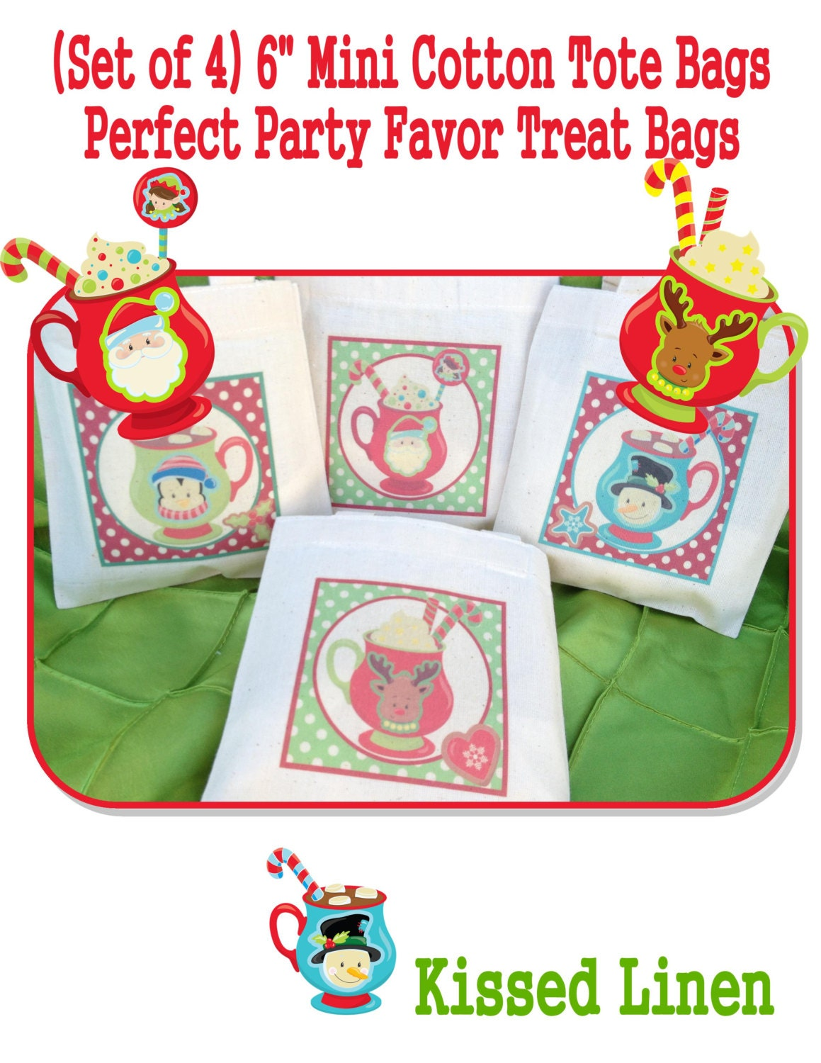 cute hot chocolate gift bags!! | Christmas party ... |Hot Chocolate Treat Bags