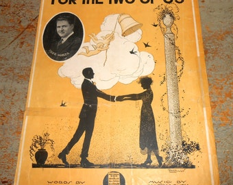 "Vintage Music Sheets, ""For The Two Of Us"", Fred Hudler,  Piano, Old, Music Score, Sheet Music, Piano Music"