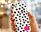 Custom Monogrammed Polka Dot iPhone / Samsung Galaxy S6 Case