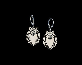 Norwegian Forest cat earrings - sterling silver